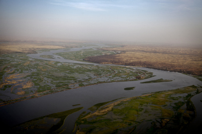Aerial View of Niger River, Mali