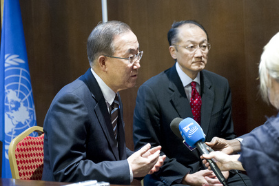 Secretary-General and World Bank Head Speak to Press in Paris