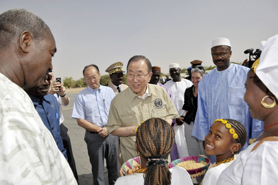 Secretary-General and World Bank President Arrive in Timbuktu