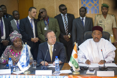 Secretary-General Attends Joint Meeting with President and Ministers of Niger