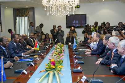 Joint Meeting of International Leaders with President of Burkina Faso