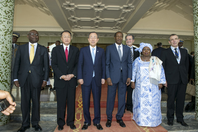 Secretary-General at Joint Meeting with President of Burkina Faso
