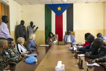 UN Head of Field Support Visits South Sudan