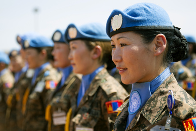Medal Ceremony for Mongolian Peacekeepers Serving in South Sudan
