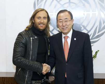 Secretary-General Meets Music Producer and Deejay David Guetta