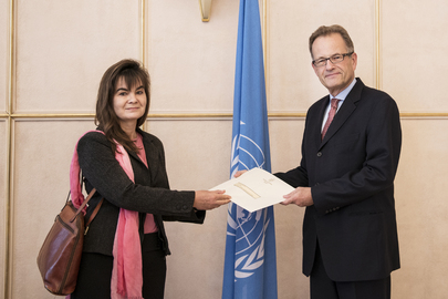 Permanent Representative of Namibia to UNOG Presents Credentials