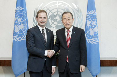 Secretary-General Meets Defense Minister of Denmark