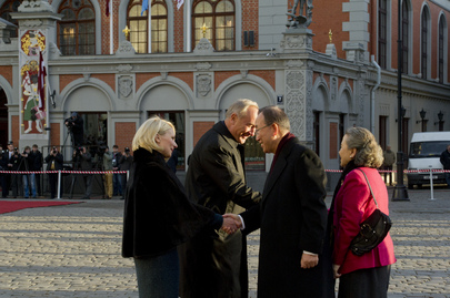 Secretary-General Greeted by Latvian President