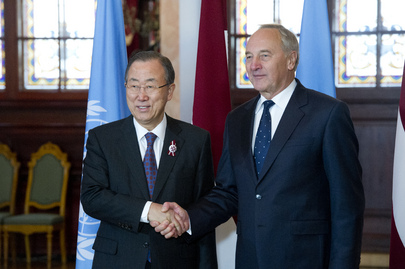 Secretary-General Meets Latvian President