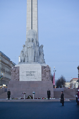 Freedom Monument in Riga, Latvia