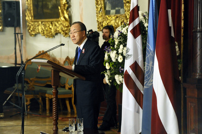 Secretary-General Speaks on 95th Anniversary of Latvian Republic