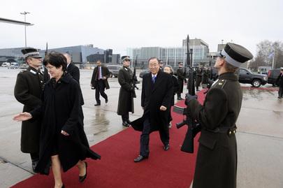 Secretary-General Departs Latvia