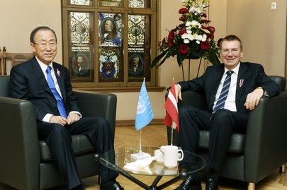 Secretary-General Meets Foreign Minister of Latvia