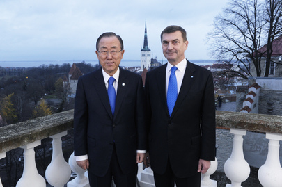 Secretary-General Meets Estonian Prime Minister