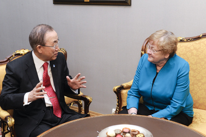 Secretary-General Meets Speaker of Estonian Parliament