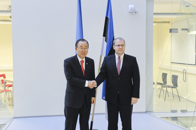 Secretary-General Meets Foreign Minister of Estonia