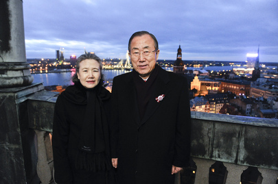 Secretary-General and Wife in Riga, Latvia