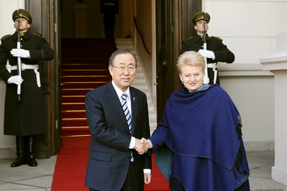 Secretary-General Meets President of Lithuania
