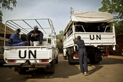 Ghanaian Peacekeepers Help Rehabilitate School in Taliko, Bamako