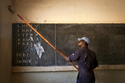 Ghanaian Peacekeepers Help Rehabilitate School in Taliko, Bamako.