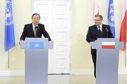 Secretary-General Meets President of Poland