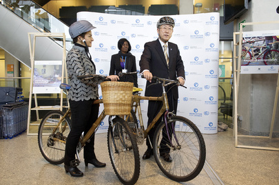 Ghana Bike Initiative at Warsaw Climate Change Conference