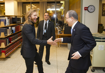 Music Star David Guetta Launches Video for Relief Efforts at UNHQ