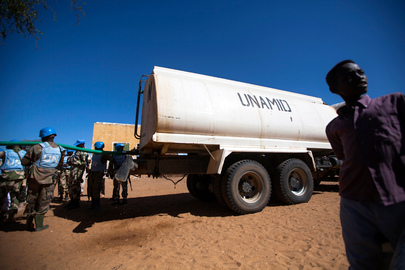 UNAMID Provides Water to East Darfur School