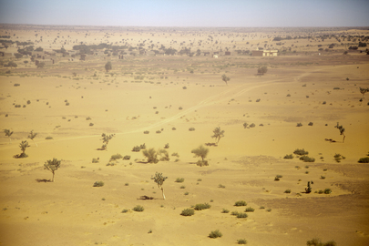Aerial View of Gao, Mali, on Election Day