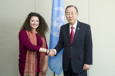 Secretary-General Meets Singer and Composer of Classical Arab Music