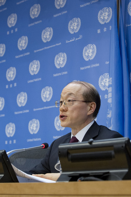 Outgoing President of Security Council Holds Press Conference