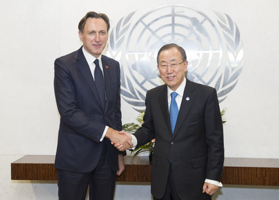 Secretary-General Meets Head of OSCE Parliamentary Assembly