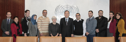 Secretary-General Meets Palestinian Journalists