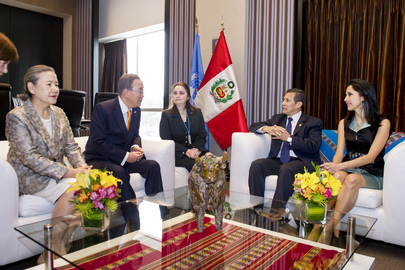 Secretary-General Meets President of Peru