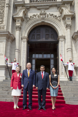 Secretary-General Arrives at Government Palace of Peru