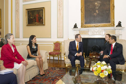 Secretary-General Meets Peruvian President at Government Palace