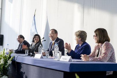 Secretary-General Meets UN Staff Members in Peru