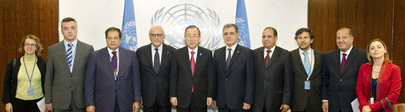 Secretary-General Meets Head of Mediterannean Parliamentary Assembly