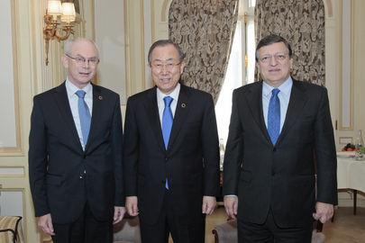 Secretary-General Meets Presidents of European Council and Commission
