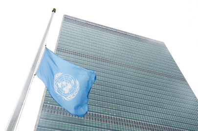 UN Flag at Half-Mast in Memory of Mandela