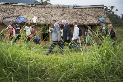 UN Peacekeeping Chief Visits Town of Pinga, North Kivu