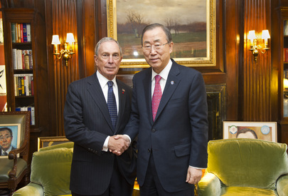 Secretary-General Hosts Mayor of New York City at Residence