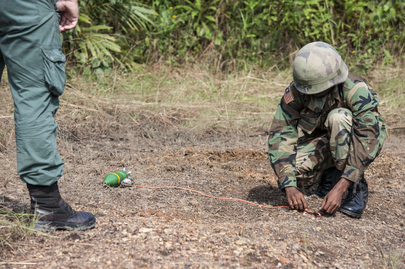 UNMAS Provides EOD Training for Liberian Troops