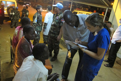 UNMISS Medical Team Assists Civilians in Juba