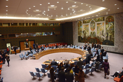 Security Council Chamber before Meeting on Afghan Situation