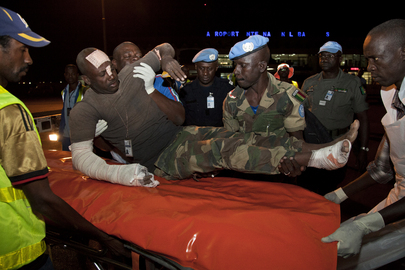 MINUSMA Peacekeepers Injured in Kidal Attack Arrive in Bamako