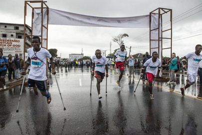 Disabled Athletes Participate in Liberia Marathon