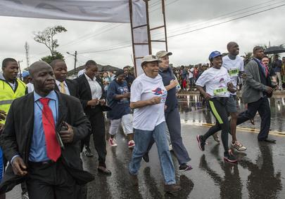 Liberian President Participates in National Marathon