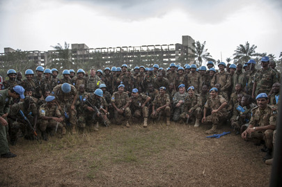 Participants of Quick Reaction Force Training Exercise, UNMIL
