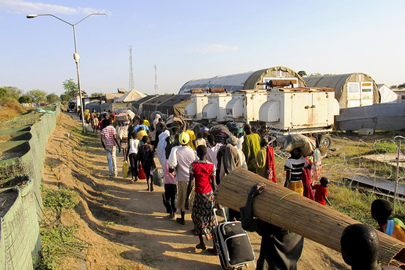 Civilians Fleeing Fighting Seek Refuge at UNMISS Compound, Bor